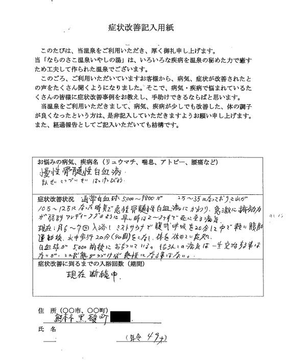 【熊本市黒髪/49歳男性】のお客様の声